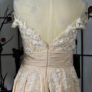 izilady Dresses - LACE APPLIQUE COCKTAIL DRESS 12  MOTHER OF Bride